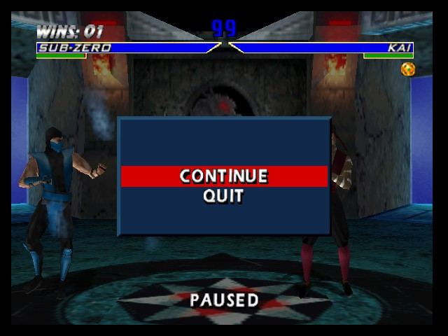 Mortal Kombat 4 - Menus Pause Menu -  - User Screenshot